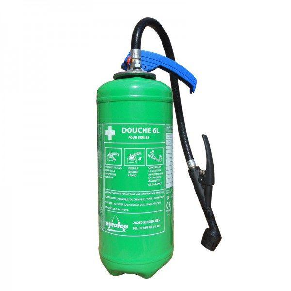 6. Extincteur douche portatif pour brûlure chimique 6 ou 9 l