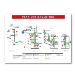 Plan d'intervention - PVC - Format A0