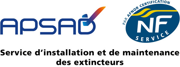 APSAD NF certificat AFNOR extincteurs